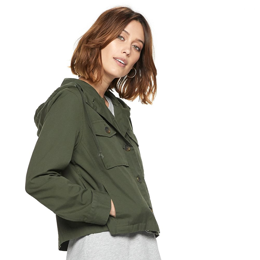 Women's POPSUGAR Cropped Military Jacket
