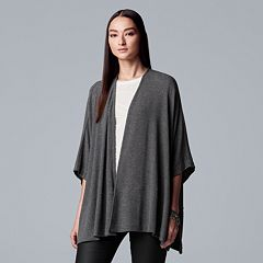 Women's Simply Vera Vera Wang Draped Open-Front Poncho