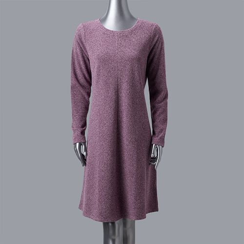 f4fb800b8bb Women s Simply Vera Vera Wang Luxe Fit   Flare Sweater Dress
