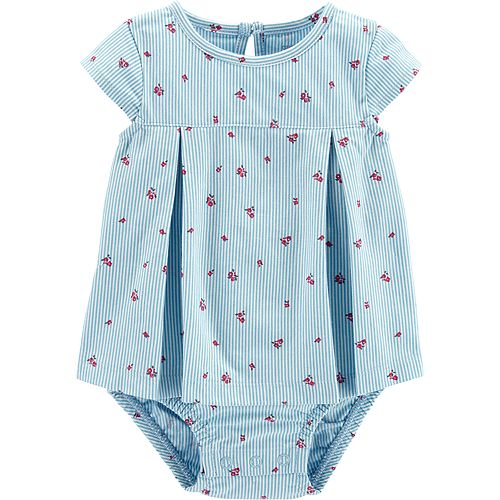 Baby Girl Carter's Striped Floral Sunsuit