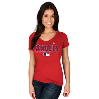Women's Majestic Los Angeles Angels of Anaheim Authentic Collection Tee