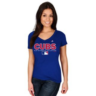 Women's Majestic Chicago Cubs Authentic Collection Tee