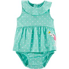Baby Girl Carter's Polka-Dot Dog Sunsuit