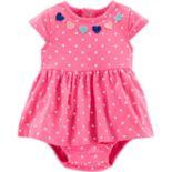 Baby Girl Carter's Dot & Heart Bodysuit Dress
