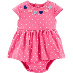 Baby Girl Carter's Dot & Heart Bodysuit Dress