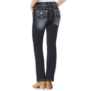 Juniors' Wallflower Mid-Rise Luscious Curvy Bootcut Jeans