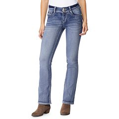 Juniors' Wallflower Mid-Rise Luscious Curvy Bootcut Jeans
