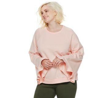 Plus Size POPSUGAR Bell-Sleeve Sweatshirt