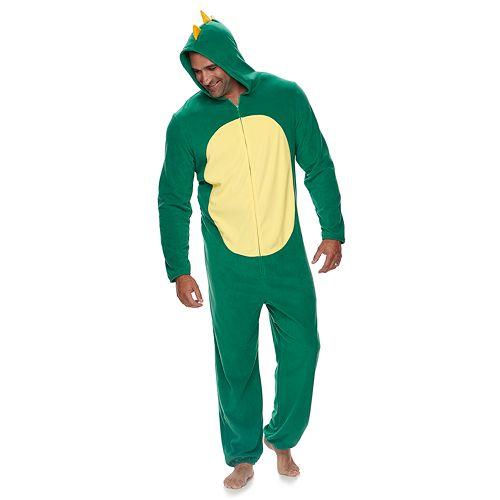 Big & Tall Jammies For Your Families Dino Microfleece One-Piece Pajama Set