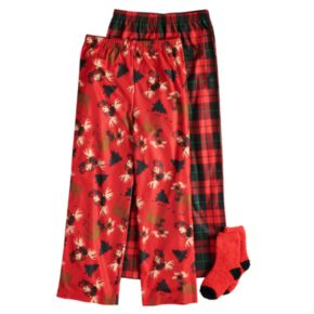 Boys 4-16 Up-Late Moose Holiday 2-Pack Lounge Pants