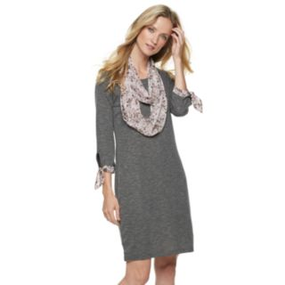 Women's ELLE? Infinity Scarf & Dress Set