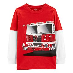 Boys 4-14 Carter's Fire Truck Mock Layer Graphic Tee