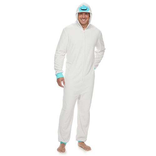 Big & Tall Jammies For Your Families Yeti Microfleece One-Piece Pajamas