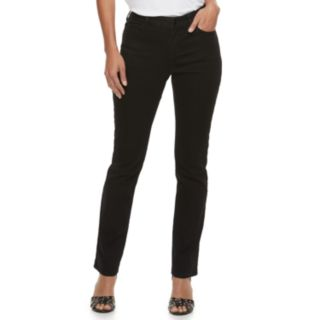 Women's Jennifer Lopez MidRise Straight-Leg Jeans