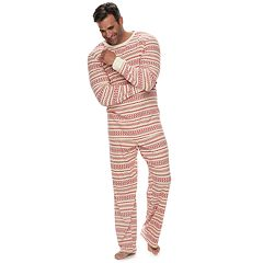 Big & Tall LC Lauren Conrad Jammies For Your Families Knit Winter Fairisle Top & Bottoms Pajama Set