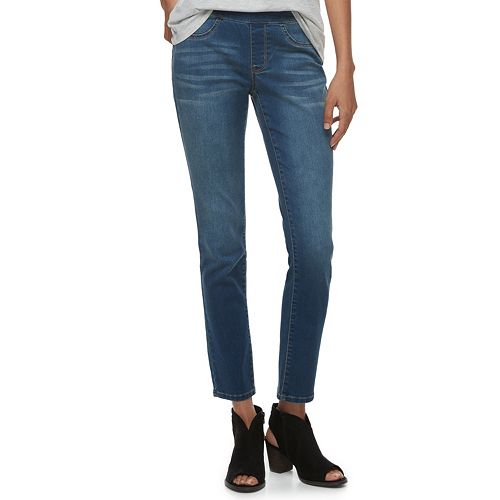 Petite SONOMA Goods for Life™ Pull-On Mid-Rise Skinny Jeans