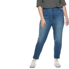 Plus Size POPSUGAR High-Waist Crop Jeans