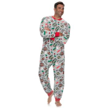 Big & Tall Jammies For Your Families Comic Book Microfleece One-Piece Pajamas