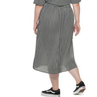 Plus Size POPSUGAR Print Midi Skirt