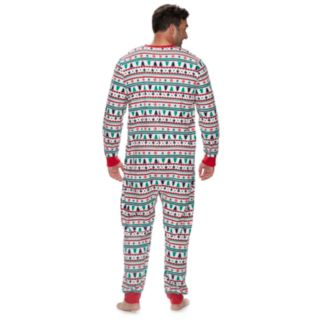 Big & Tall Jammies For Your Families Fairisle Microfleece One-Piece Pajamas