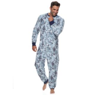 Big & Tall Jammies For Your Families Holiday Camouflage Microfleece One-Piece Pajama Set