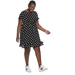 Plus Size POPSUGAR Print Tie-Waist Dress