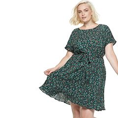 Plus Size POPSUGAR Print Tie-Waist Dress