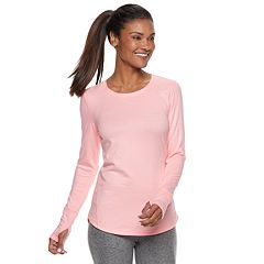 Women's Tek Gear® Thumb Hole Long Sleeve Tee