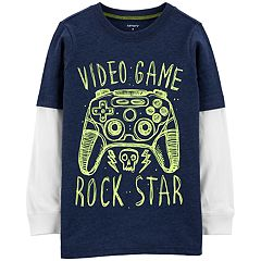 Boys 4-14 Carter's 'Video Game Rock Star' Mock Layer Tee