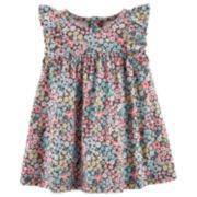 Baby Girl Carter's Floral Ruffled Dress