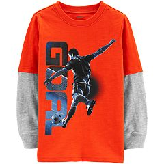ae000a5c3 Boys Carter's Graphic T-Shirts Kids Long Sleeve Tops & Tees - Tops ...