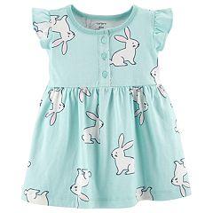 Baby Girl Carter's Bunny Henley Dress