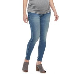 Maternity a:glow Inset Elastic Side Panel Jeggings