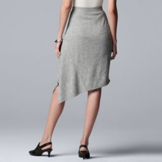 Women's Simply Vera Vera Wang Asymmetrical-Hem Sweater Skirt
