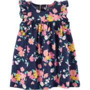 Baby Girl Carter's Ruffled Floral Dress