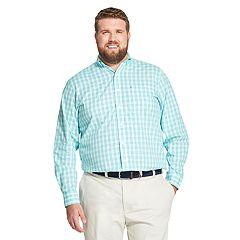 Big & Tall IZOD Premium Essentials Classic-Fit Gingham Button-Down Shirt