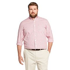 Big & Tall IZOD Premium Essentials Classic-Fit Gingham Button-Down Shirt