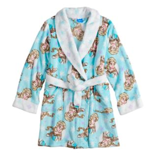 Disney's Frozen Elsa Girls 4-10 Knee Length Plush Robe
