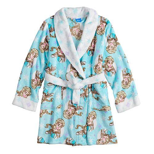 Disney's Frozen Elsa Girls 4-10 Knee Length Plush Robe