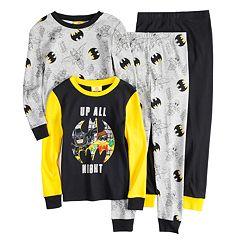 Boys 4-10 Batman & Robin 4-Piece Pajama Set