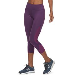Women's Tek Gear® Side Panel Mid-Rise Capri Leggings