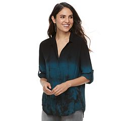 Women's Rock & Republic® Tie-Dye Challis Shirt