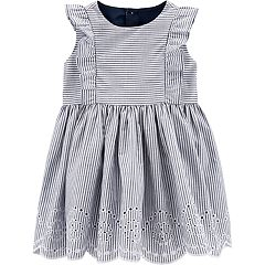 cfca8f1c5993 Baby Girl Carter's Striped Eyelet Dress