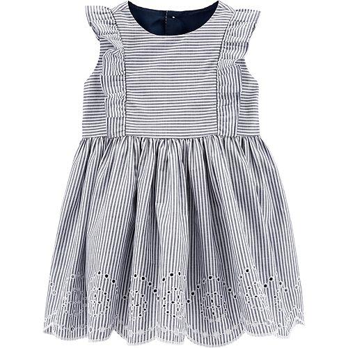 40f994baf Baby Girl Carter's Striped Eyelet Dress