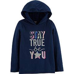Girls 4-14 Carter's 'Stay True Be You' Graphic Hooded Tee