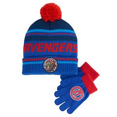 Boys 4-20 Avengers Hat & Gloves Set
