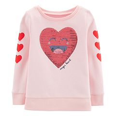 Toddler Girl Carter's 'Magic Heart' Sequined Graphic Sweatshirt