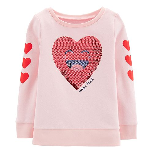 "Toddler Girl Carter's ""Magic Heart"" Sequined Graphic Sweatshirt"