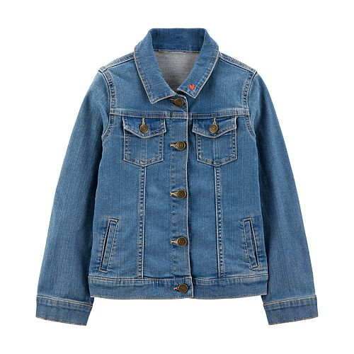 Girls 4-14 Carter's Embroidered Heart Denim Jacket