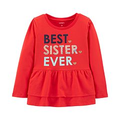 Toddler Girl 'Best Sister Ever' Sequined Graphic Tee